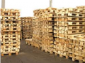 The cargo wooden recovered pallets