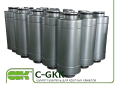 Трубчатый шумоглушитель C-GKK-125-900 канальный