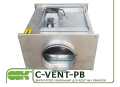 C-VENT-PB-150В-4-220 канальный вентилятор с назад загнутыми лопатками