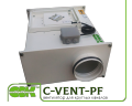C-VENT-PF-200-4-220 вентилятор канальный для круглых каналов с вперед загнутыми лопатками