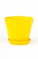 Горшок Карат с подставкой, жёлтый, d160mm