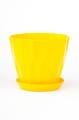 Горшок Карат с подставкой, жёлтый, d190mm