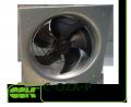 C-OZA-P-020-4-220 вентилятор канальний осьової монтаж пластиною до стіни