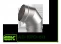 AD-KPO-60 отвод 60 градусов для воздуховодов круглого сечения