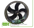 C-OZA-C-030-4-220 channel axial fan assembly of the wall