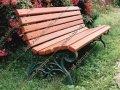 Лавка садово-парковая чугунная со спинкой №12