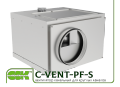 C-VENT-PF-S-160-4-220 fan channel in a soundproof enclosure