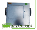 C-VENT-PB-S-150A-4-220 fan channel with backward curved blades in a soundproof enclosure