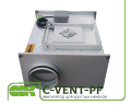 C-VENT-PF-160-4-380 вентилятор канальный для круглых каналов с вперед загнутыми лопатками
