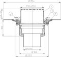 HL62B/1 Кровельная воронка DN110 с зажимным и надставным элементом, вертикальный выпуск