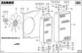 Радиатор водяной для комбайна Claas Mega 360