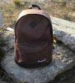Хитовая расцветка Рюкзак NIKE /Найк портфель с кож. дном. Коричневый с черным