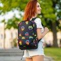 Стильный рюкзак с принтом Губы