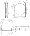 Водомасляный блок радиатора охлаждения телескопического погрузчика New Holland LM 732