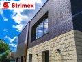 """Навесной Вентилируемый Фасад """"StrimROCK"""" на алюминиевой подсистеме с декоративным камнем Шеффилд"""