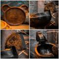 Деревянные тарелочки , посуда , менажницы , детская тарелка