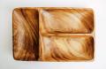Деревянная менажница на 4 отделения