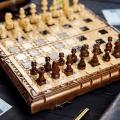Набор маленьких шахматных фигур из дерева ручной работы STRYI, арт.809030