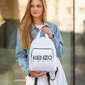 Стильный женский рюкзак KENZO Белый