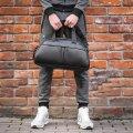 Фитнес-сумка в стиле Puma пума для тренировок. Черная. Кожзам