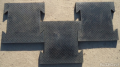 Монолитная резиновая плитка  Ласточкин Хвост