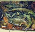 Барельефная картина - Crocodiles. Крокодилы