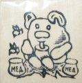 """Заготовка """"Мишка с медом """" на магните  с контурами рисунка 6см*9см .Бук"""