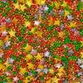Перламутровый микс № 17 звезды цветы золото