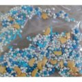 Перламутровый микс № 8 звезды месяц серебро