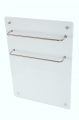 Heated towel rail glass-ceramic infrared HGlass GHT 5070 W