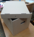 Archival box from a corrugated cardboard