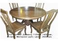 Стол круглый. Столы из натурального дерева . Возможен выбор нужной именно вам породы древесины. Выбор моделей и подбор цветов.