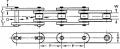 Пластинчатая цепь Tsubaki MR45 - шаг 41.4 mm