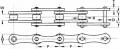 Пластинчатая цепь Tsubaki RS2060 - шаг 38.10 mm