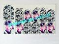 Sticker on nails of Sliders art DM - 347