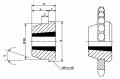 Сварная ступица под тапербуш 1610 MSB1610
