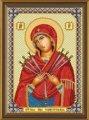 Набор для вышивания бисером Богородица «Семистрельная» Код товара С 6010