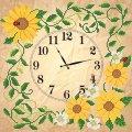 Схема для вышивки бисером Часы. Солнечные цветы Код товара ЧКБ-3002