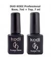 Набор препаратов DUO KODI Professional - Base Gel +Top Gel