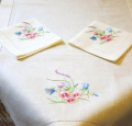The napkins embroidered under the order
