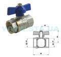 Кран шаровой СТА 15 мм ВВ бабочка для сантехнических систем