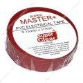 Изолента ПВХ Master 17х0.13мм 17м красная 414041