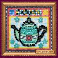 Набор для вышивания бисером  Бирюзовый чайник AMМ-012