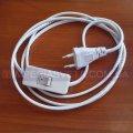 Шнур с вилкой сетевой для бра и светильников SVET с выключателем