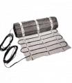 Heating mat for installation in asphalt single-core