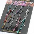 Набор разноцветных серьг - 12 штук