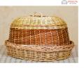 Хлебница плетеная Еко с крышкой Код: Арт 046-4