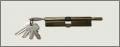 Сердцевина  6К 80мм простая с барашкой, металлические сердцевины для замков дверных, Одесса