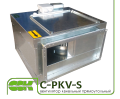 C-PKV-S-40-20-4-380 fan rectangular channel in a soundproof enclosure