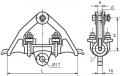 Зажим поддерживающий ПГ-1-11